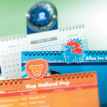 Desk calendar with logo