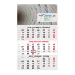 3-Monats-Wandkalender - budget